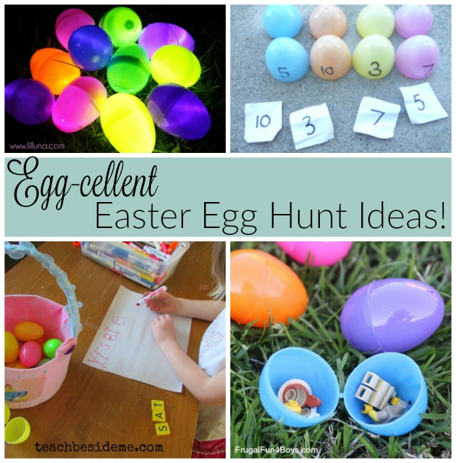 Easter egg hunt ideas for kids!