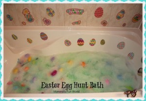 Easter egg hunt ideas - bath time