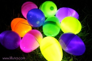 Easter egg hunt ideas - glow in the dark
