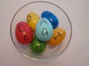 Easter egg hunt ideas - letters