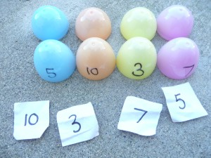 Easter egg hunt ideas - numbers