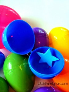 Easter egg hunt ideas - shape hunt