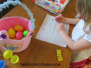 Easter egg hunt ideas - sight words