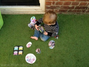 Easter egg hunt ideas - toddler family tree egg hunt