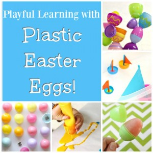 Wondering what to do with all those plastic Easter Eggs? Preschool Easter activities!