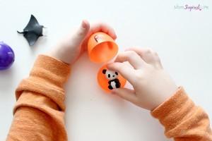 Preschool Easter activities - beginning sounds in plastic eggs