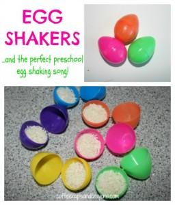 Preschool Easter activities - egg shakers