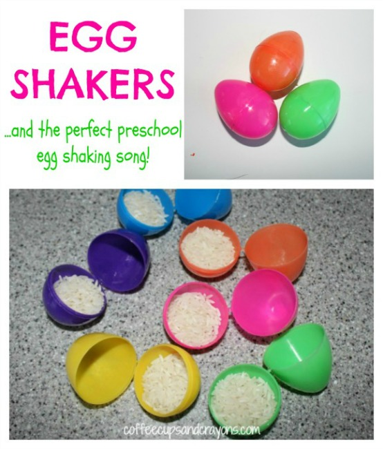 Preschool Easter activities - egg shakers