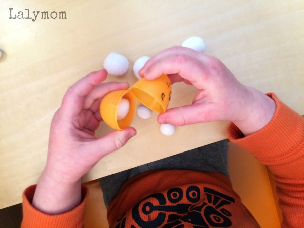 Preschool Easter activities - games to play with plastic eggs