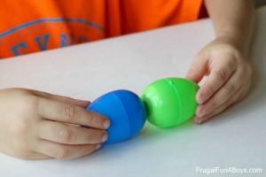 Preschool Easter activities - magnet eggs