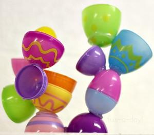 Preschool Easter activities - plastic egg sculpture