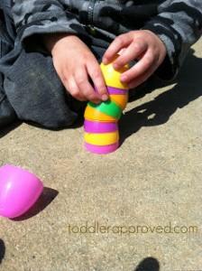 Preschool Easter activities - stacking egg game