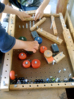 Woodworking project for kids - homemade pinball machine