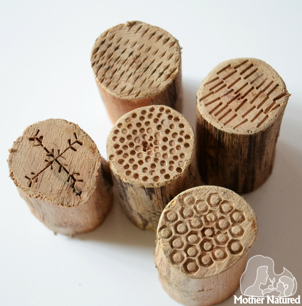 Woodworking projects for kids - DIY texture stamps