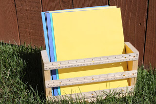 Woodworking projects for kids - ruler basket