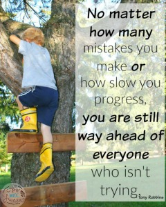 No matter how many mistakes ...