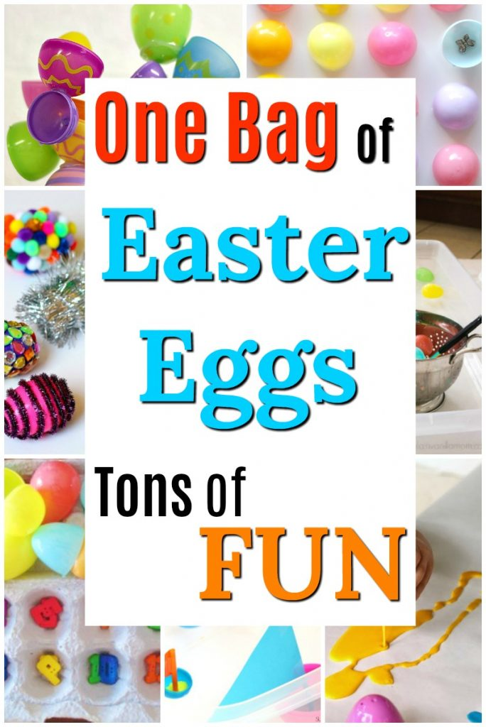So many fun crafts and activities with plastic Easter eggs for kids! These are fun ideas for Easter activities for preschoolers. #HowWeeLearn #easter #eastercrafts #easteractivities #STEM #STEAM #playideas #preschoolcrafts #preschoolactivities #craftsforkids #kidscrafts #kidsactivities