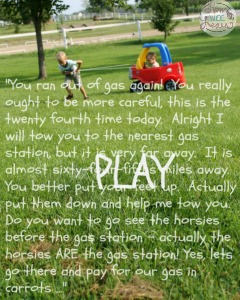 A beautiful child's story - play is so important!
