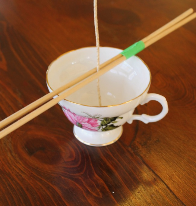 tea cup chopsticks