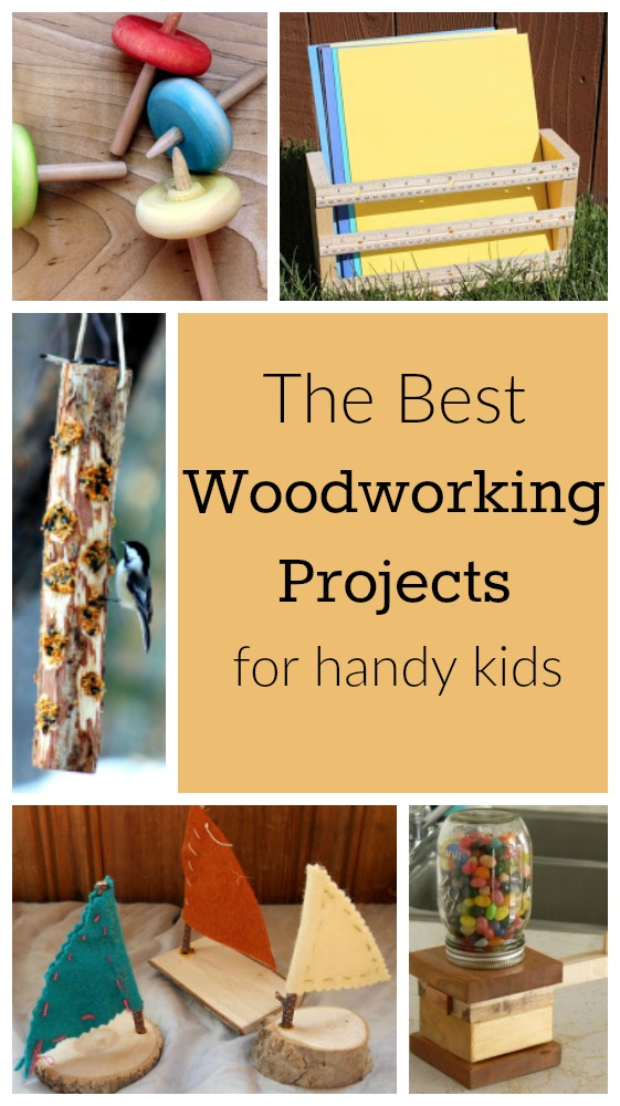 These are great woodworking projects for kids! Easy and simple wood projects for school or home! #woodworking #project #kids #easy