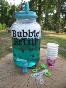 Fun outdoor games for kids - bubble station