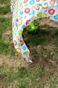 Fun outdoor games for kids - hula hoop tunnel
