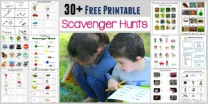 Fun outdoor games for kids - scavenger hunts