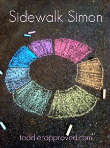 Fun outdoor games for kids - sidewalk simon