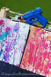 Fun outdoor games for kids - squirt gun painting