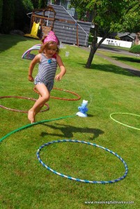 Fun outdoor games for kids - water obstacle course