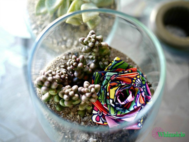 Garden fun - kid made terrariums