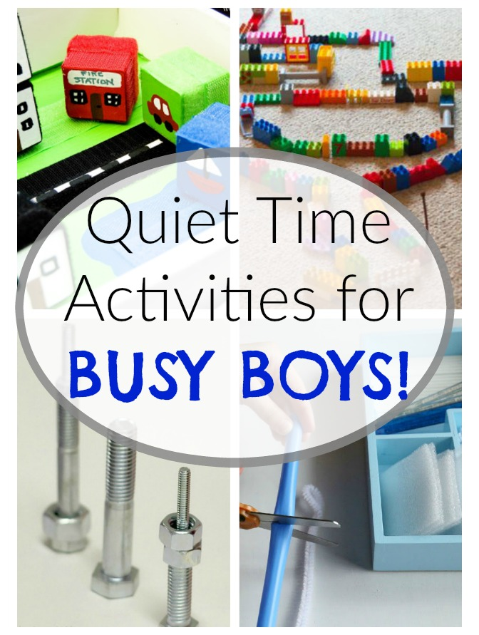 These quiet time activities and quiet bins are perfect for BUSY BOYS! #howweelearn #quiettime #independentplay #preschoolactivities #preschoollearning