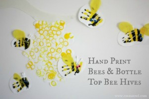 Spring crafts for toddlers - beehive and bees