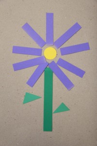 Spring crafts for toddlers - shape flowers