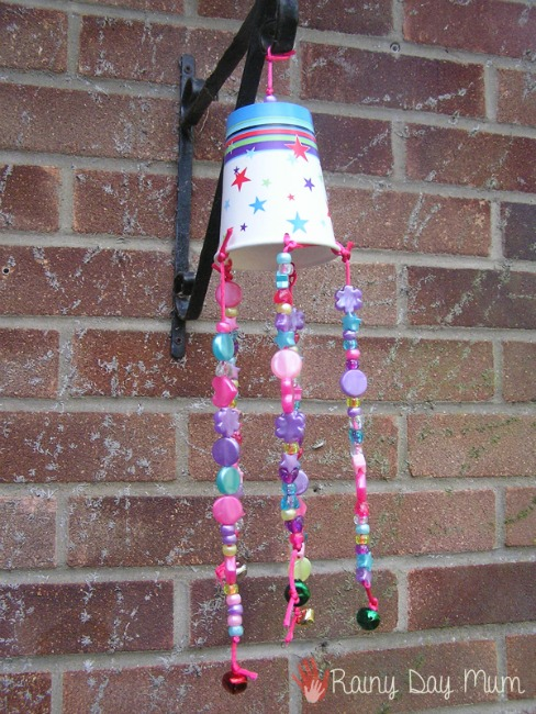 Spring crafts for toddlers - simple wind chime