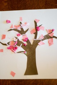 Spring crafts for toddlers - spring tree