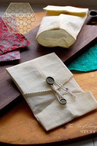 Uses for beeswax - beeswax fabric