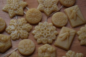 Uses for beeswax - homemade ornaments