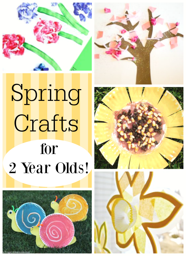 These are amazing spring crafts for toddlers and preschoolers! Perfect art ideas for two year old