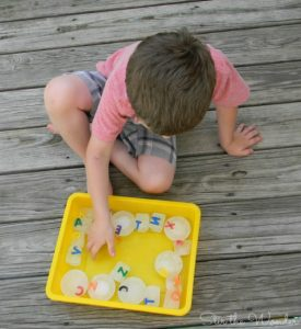 Learning the alphabet this summer - Alphabet Ice Cubes