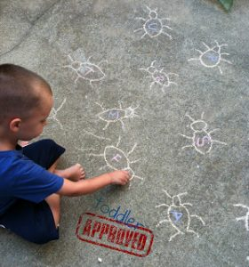 Learning the alphabet this summer - bug spray