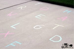 Learning the alphabet this summer - say and spray the alphabet