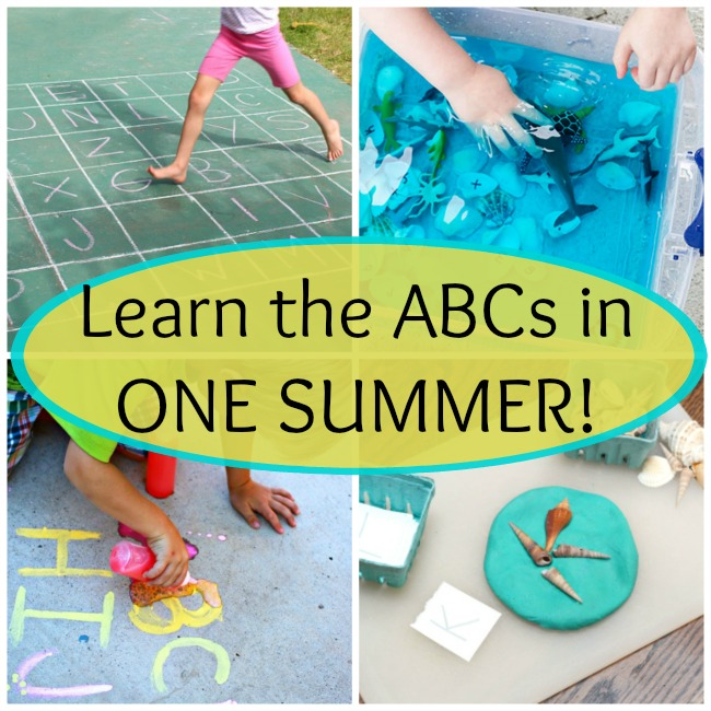 Learn the alphabet this summer! These ABC activities are perfect for preschoolers and kindergarten children.