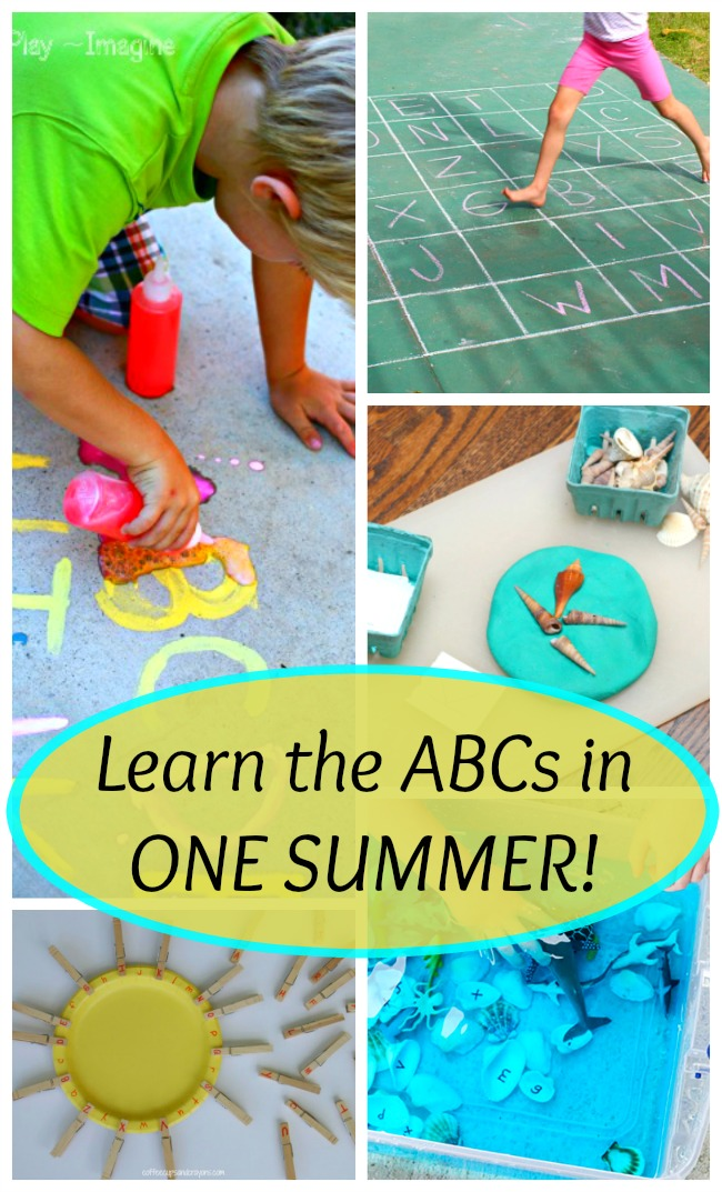 Learn the alphabet with these awesome summer time games for kids! Preschoolers will love these ABC activities.