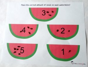 number summer learning - watermelon seeds counting