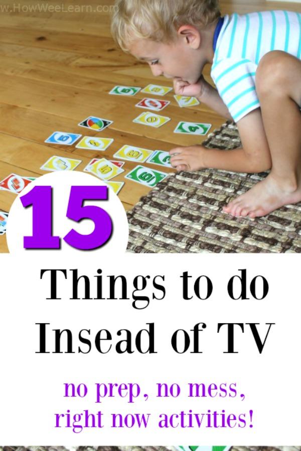 Independent, no prep, no mess quiet time activities for kids. PERFECT for instead of watching TV! #screenfree #play #kidsactivities #preschool
