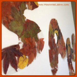 Fall crafts for kids - leaf letters