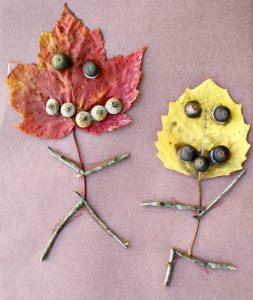 Fall crafts for kids - leaf people