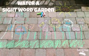How to teach reading this summer - sight word garden