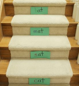 How to teach reading this summer - sight word stairs